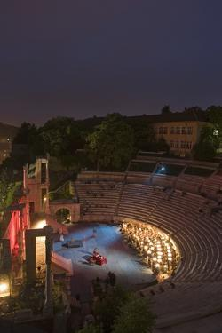 Ancient Plovdiv Roman Theatre (114-117 Ad), Plovdiv, Bulgaria, Night View During Performance
