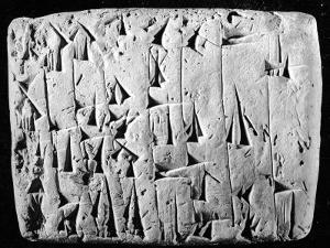 Ancient Promissory Note, Clay Tablet, in Cuneiform, from a Collection at Chase National Bank