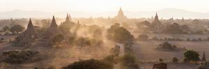 Ancient Temples at Sunset, Bagan, Mandalay Region, Myanmar