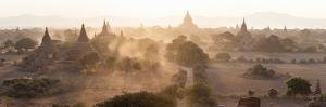 Ancient Temples at Sunset, Bagan, Mandalay Region, Myanmar