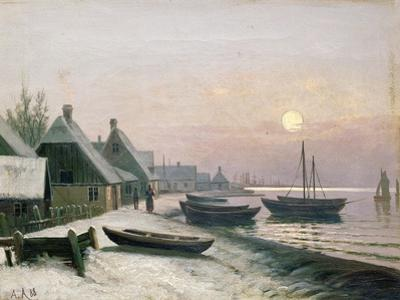 Fishing Boats in the Winter Sunlight