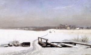 The Snow Covered Bridge by Anders Andersen-Lundby