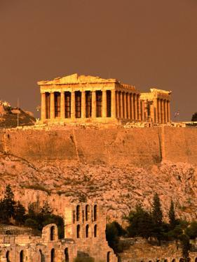 Acropolis and Parthenon from Filopappou Hill, Athens, Greece by Anders Blomqvist