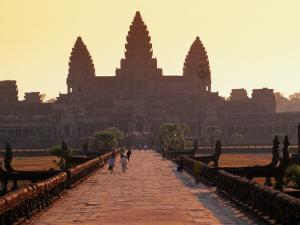 Angkor Wat Silhouetted Against a Sunris by Anders Blomqvist