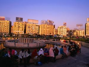 Fountain at Midan Tahrir (Liberation Square), Cairo, Egypt by Anders Blomqvist