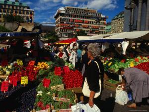 Hotorget Market, Stockholm, Sweden by Anders Blomqvist