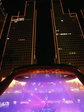 Laser Light Show at Fountain of Wealth in Suntech City, Singapore by Anders Blomqvist
