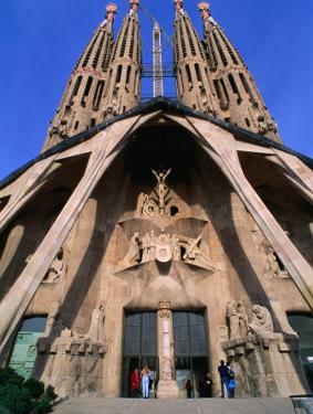 Main Entrance to La Sagrada Familia, Barcelona, Spain by Anders Blomqvist