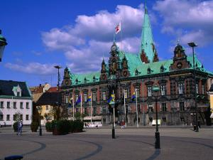 Malmo City Hall or Radhuset, Malmo, Skane, Sweden by Anders Blomqvist