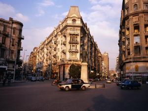 Midan Talaat Harb Intersection in Central Cairo by Anders Blomqvist