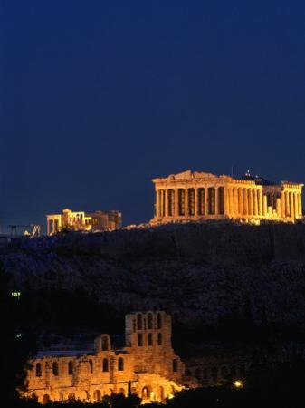 Parthenon and Acropolis from Filopappou Hill, Athens, Greece