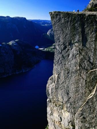 Preikestolen 600M Above Lysefjord, Lysefjord, Rogaland, Norway by Anders Blomqvist