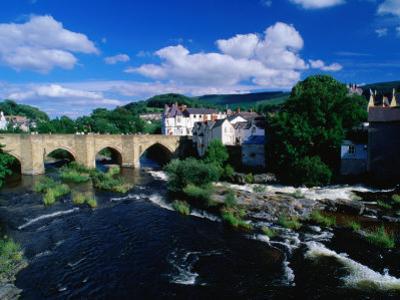 River Dee Flowing Under Bridge Through Town, Llangollen, United Kingdom by Anders Blomqvist