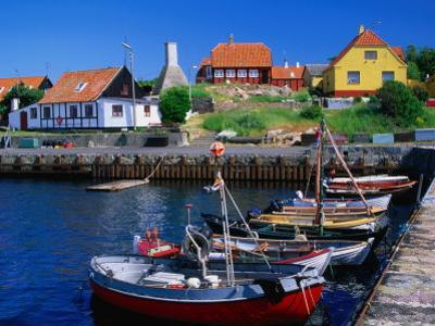 Small Village Harbour, Gudhjem, Bornholm, Denmark by Anders Blomqvist
