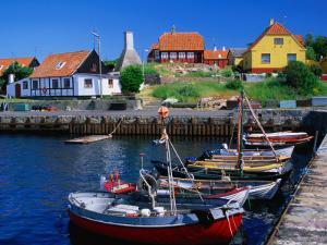 Small Village Harbour, Gudhjem, Bornholm, Denmark by Anders Blomqvist
