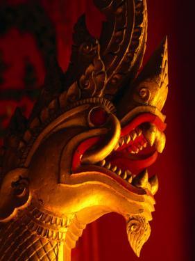 Stylised Dragon Head in Wat Xieng Thong, Luang Prabang, Laos by Anders Blomqvist
