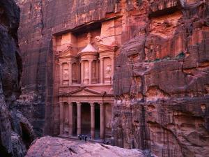 The Facade of the Treasury (Al-Khazneh), Petra, Ma'An, Jordan by Anders Blomqvist