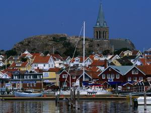 The Lovely Small Fishing Village of Fjallbacka and Its Large Church, Vaster-Gotaland, Sweden by Anders Blomqvist