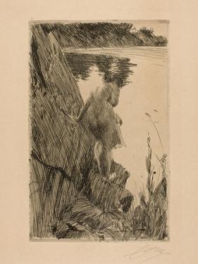Bather (Evening) Iii, 1896 by Anders Leonard Zorn