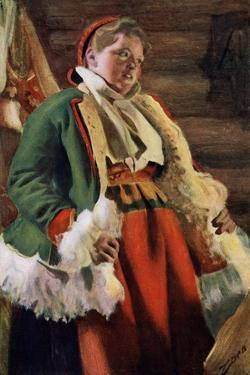 Braskkulla, a Peasant Girl from Moro, 1911-1912 by Anders Leonard Zorn