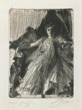 Maud Cassel (Mrs. Ashley), 1898 by Anders Leonard Zorn