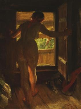 Mora Girl at an Open Door, 1903 by Anders Leonard Zorn