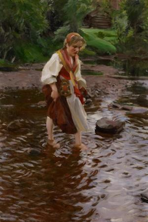 The Girl from Alvdalen, C.1911 by Anders Leonard Zorn