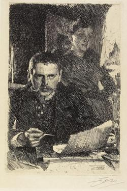 Zorn and His Wife, 1890 by Anders Leonard Zorn