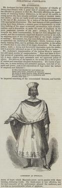 Anderson as Othello