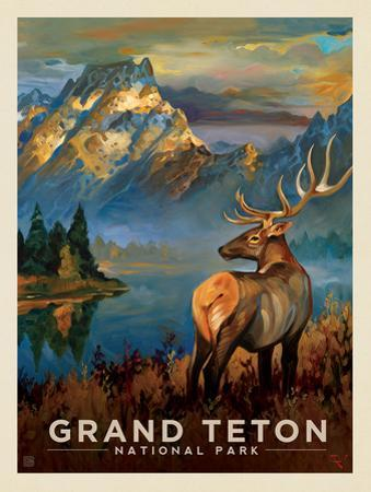 Grand Teton National Park: Morning Mist by Anderson Design Group