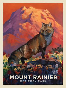 Mt. Rrainier National Park: Floral Fox by Anderson Design Group