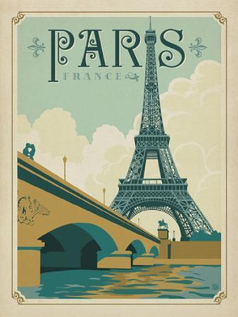 Paris, France (Eiffel Tower Blue Sky) by Anderson Design Group
