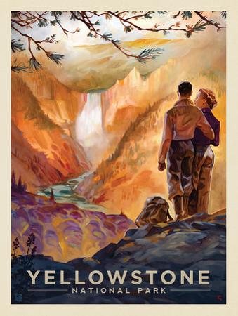 Yellowstone National Park: Yellowstone Falls by Anderson Design Group