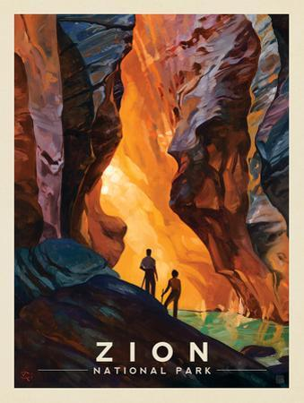 Zion National Park: Virgin River Narrows by Anderson Design Group