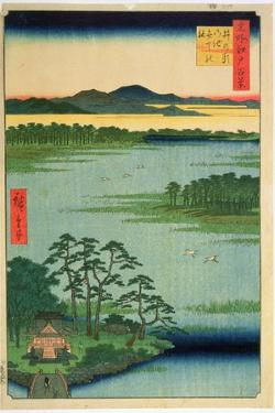 Benten Shrine, Inokashia Pond, from the Series 'One Hundred Famous Views of Edo', 1856 by Ando Hiroshige