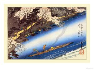 Cherry Blossoms in Full Bloom by Ando Hiroshige