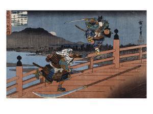 Combat de samouraï by Ando Hiroshige