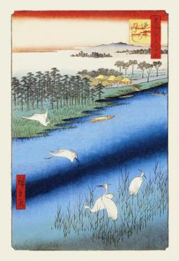 Cranes on the River by Ando Hiroshige