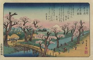 Evening Glow at Koganei Bridge by Ando Hiroshige