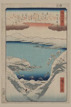 Evening Snow at Hira (Hira No Bosetsu) by Ando Hiroshige