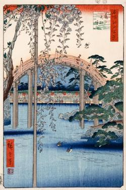 Grounds of Kameido Tenjin Shrine, Plate 57 from the Series 'One Hundred Views of Famous Places in… by Ando Hiroshige
