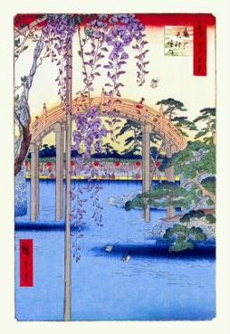 Grounds of the Kameido Tenjin Shrine by Ando Hiroshige