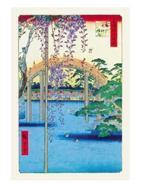Grounds of the Kameido Tenjin Shrine by Ando Hiroshige