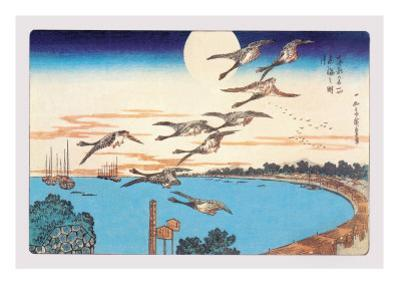 Harvest Moon by Ando Hiroshige
