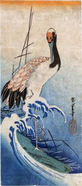 Hiroshige: Crane, C. 1834 by Ando Hiroshige