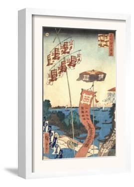 Kanasugi Bridge at Shibaura by Ando Hiroshige