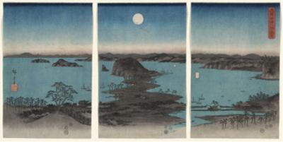 Kanazawa in Moonlight (Buyo Kanazawa HasshoYakei), 7th month, 1857