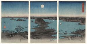 Kanazawa in Moonlight (Buyo Kanazawa HasshoYakei), 7th month, 1857 by Ando Hiroshige