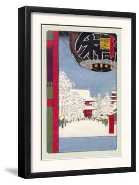 Kinryuzan Temple at Asakusa by Ando Hiroshige