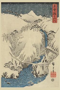 Mountains and Rivers on the Kiso Road (Kisoji No Sansen) No.3 by Ando Hiroshige